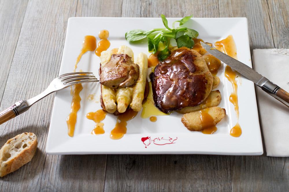 Recette foie gras mi-cuit aux asperges