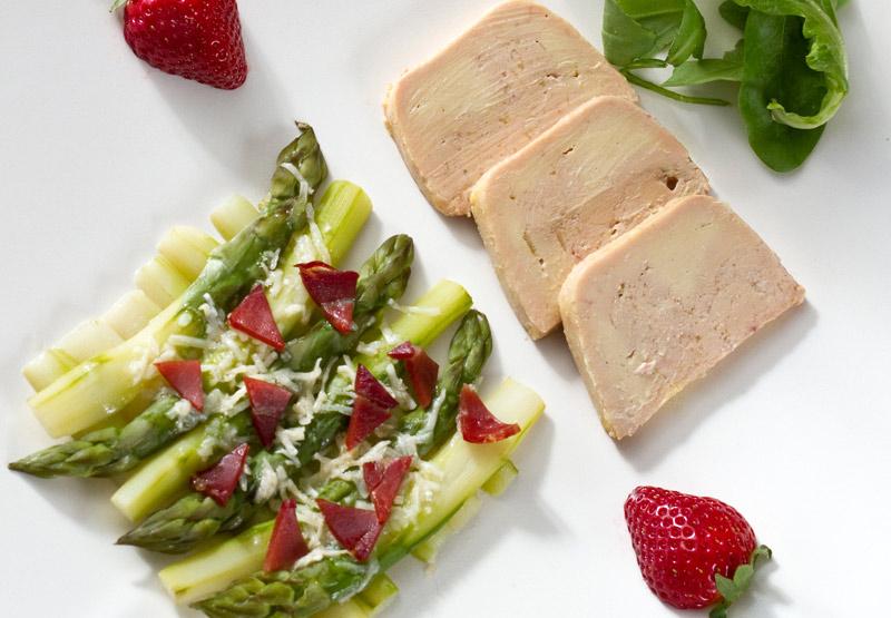 Recette de Foie gras aux asperges